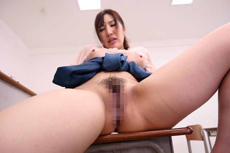 ねっとり乳揉み痴●で堕ちていく巨乳女教師NTR 若月みいな  サンプル画像 8